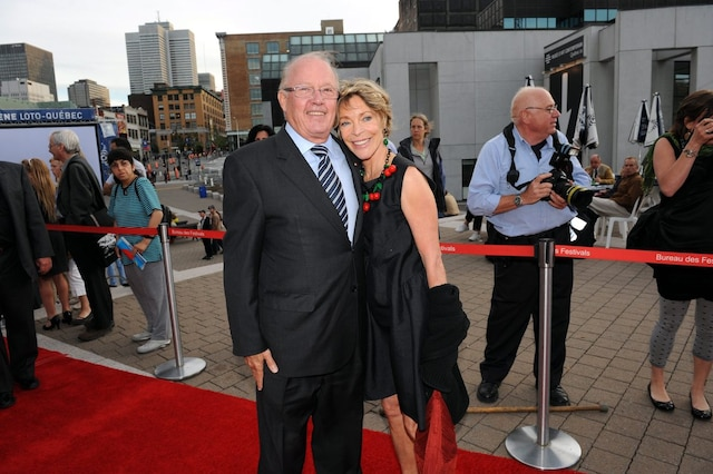 Ouverture du Festival des films du monde de Montreal à la Place-des-arts, le 27 août 2009. Bernard Landry et Chantal Renaud sur le tapis rouge.