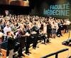 Cette année, ce sont 193nouveaux médecins qui ont prêté serment de façon symbolique dans le cadre de la cérémonie de fin de formation de l'Université Laval.