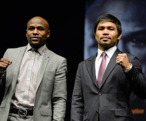 Floyd Mayweather et Manny Pacquiao.