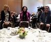 Les maires de Québec et de Lévis se sont royalement ignorés, vendredi, lors d'un dîner auquel ils étaient assis à la même table.