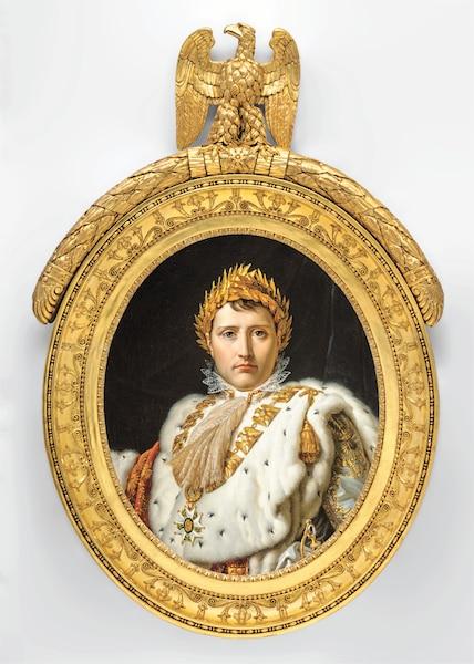 <b>Portrait en buste de Napoléon en grand habillement, vers 1805-1814.</b></br> <b>Huile sur toile.</b></br> MBAM, collection  Ben Weider.