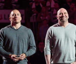 Georges St-Pierre, Dana White et Michael Bisping