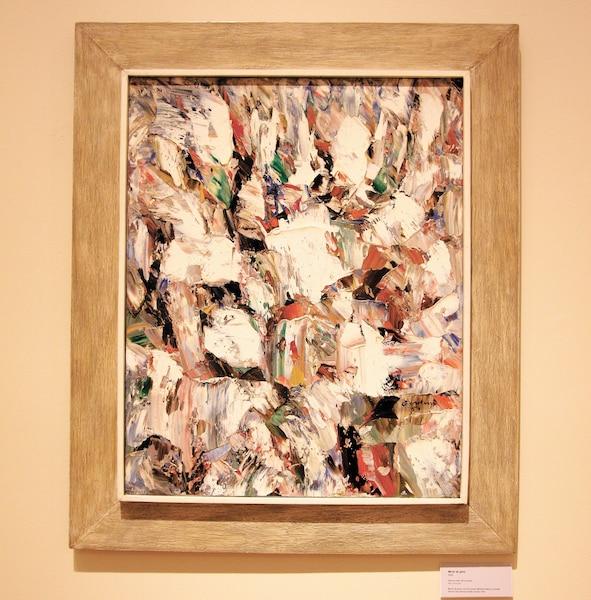 L'huile Miroir de givre, peinte en 1954, où le blanc s'impose de plus en plus.