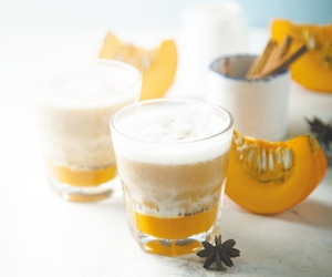 Pumpkin latte with cinnamon