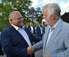 Le premier ministre Philippe Couillard a rencontré son homologue nouvellement élu de l'Ontario, Doug Ford, lors du cocktail d'ouverture du Conseil de la fédération au Nouveau-Brunswick mercredi soir.