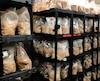 Des champignons sont mélangés à des résidus de bois dans les laboratoires de Biopterre, à La Pocatière.