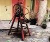 Le broyeur de canne à sucre qui produit le jus de canne ou <i>guarapo</i>.