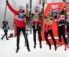 L'équipe canadienne médaillée de bronze au relais: Len Valjas, Alex Harvey, Knute Johnsgaard et Devon Kershaw.