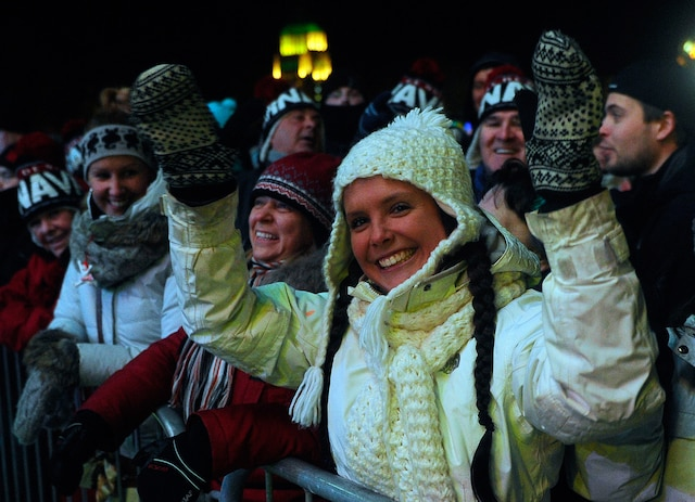 Couronnement de la reine du Carnaval Melissa Dumont vendredi le 31 janvier 2014.