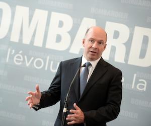 Le président et chef de la direction de Bombardier, Alain Bellemare, s'est entretenu avec les médias.