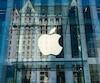 Façade de la boutique Apple dans le Manhattan à New York.