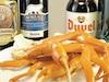 Bières et crabe des neiges