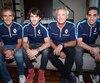 Alain Prost et Jean-Paul Driot, cofondateurs de l'écurie Renault e.dams, ont posé avec leurs pilotes, Nicolas Prost (fils d'Alain) et Sébastien Buemi, champion en titre de FE.