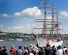 Le Eagle lors de son arrivée à Québec, mardi, après avoir passé deux jours à La Malbaie.
