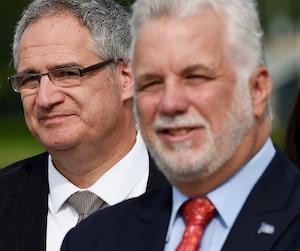 Éric Tétrault et Philippe Couillard