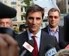 «Je veux être maire de Québec et au minimum, Québec 21 doit former une opposition forte. C'est ce qu'on se fait dire dans le porte-à-porte», a déclaré le chef de Québec 21 Jean-François Gosselin en conférence de presse.