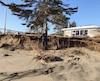 Jean-François Morin était en voyage quand son voisin lui a fait parvenir cette photo de son terrain pour qu'il puisse constater les dégâts subis par sa résidence.