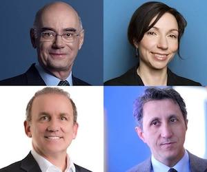 François Daoust, Martine Ouellet, Claude Surprenant et Amir Khadir, membres de la Commission Transports et Environnement
