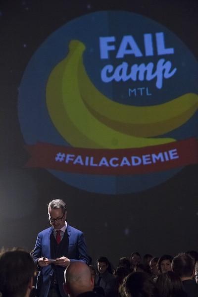 Francis Gosselin, co-organisateur et animateur du Failcamp