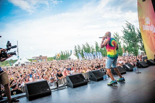 Le rappeur Flo Rida lors d'un spectacle à la Baie de Beauport, le samedi 20 juillet 2019. Photos courtoisie Charles-William Pelletier