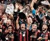 Les joueurs de l'Atlanta United FC ont de quoi célébrer leur conquête de la coupe MLS.