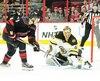 Tuukka Rask a été sublime devant le filet des Bruins. Il a notamment réalisé un bel arrêt aux dépens de Sebastian Aho, au deuxième vingt.