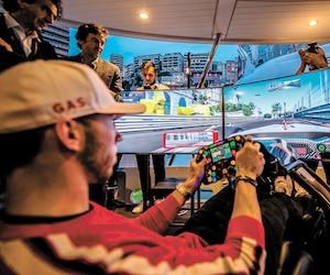 Le pilote français Pierre Gasly a fait la démonstration du simulateur Sector One en marge du récent Grand Prix de Monaco.