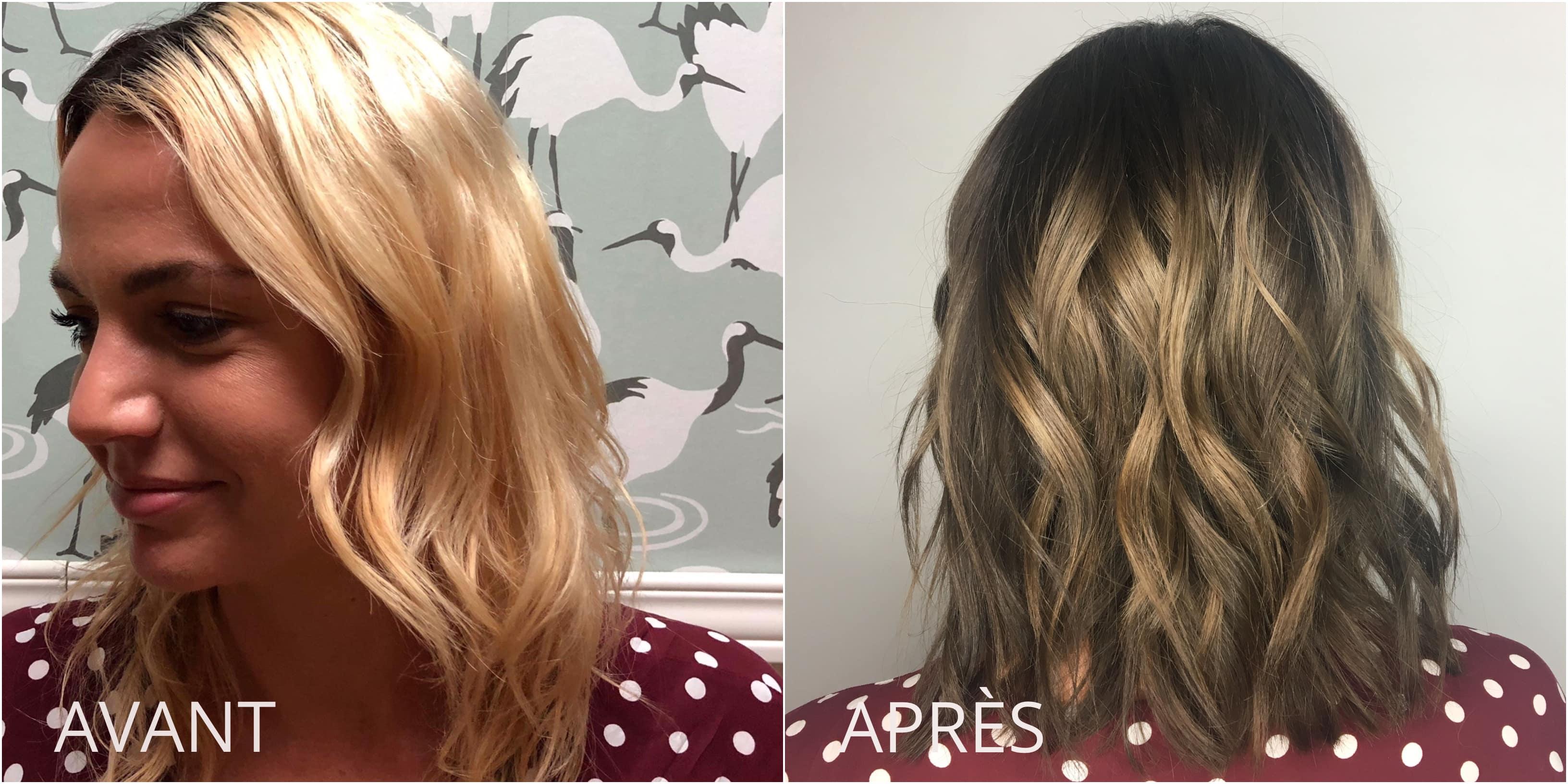 De quoi te teindre les cheveux en blond