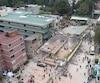 Le site de l'école primaire et secondaire Enrique Rebsamen qui s'est effondré suite au séisme de mardi le 19 septembre au Mexique.