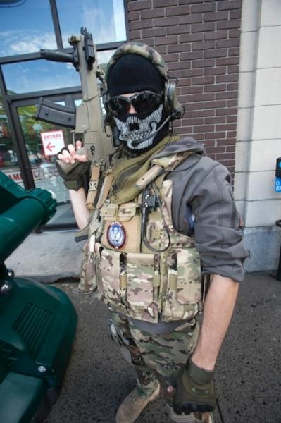 Un amateur de la série de jeux vidéos Call of duty