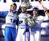 (Gauche à droite) Oleksandr Abramenko, Jia Zongyang of China et Olivier Rochon.