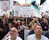 Manifestation des travailleurs à Montréal, le jeudi 25 mai 2017.