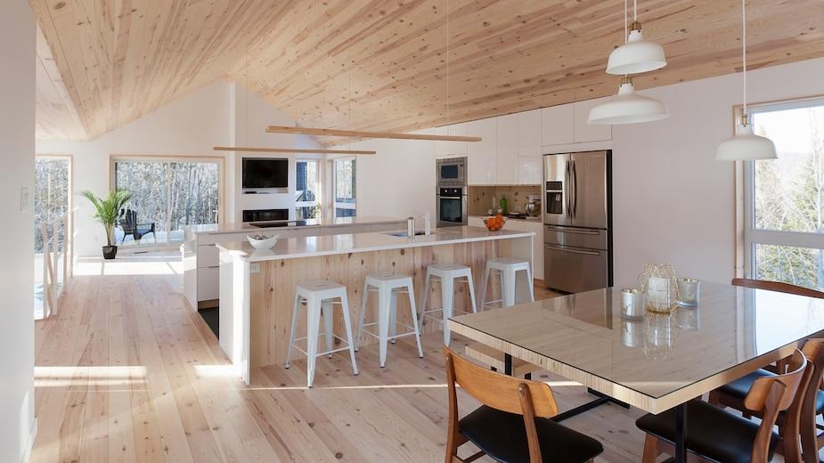 Une maison scandinave à vendre à Saint-Sauveur
