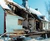 Une bâtisse vieille de 200ans à Chambly, qui a été démolie par une pelle mécanique jeudi dernier.
