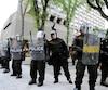 Le 7 juin dernier, des policiers de la Sûreté du Québec étaient prêts à intervenir lors de la manifestation contre le G7 qui se déroulait du parc des Braves jusqu'au Parlement de Québec.