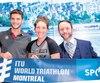 Le président du triathlon de Montréal, Patrice Brunet (à droite), pourra compter sur la présence d'Alexis Lepage et Élisabeth Boutin.