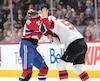 Nicolas Deslauriers a jeté les gants devant Brandon Baddock lundi. Résultat, le joueur du Canadien est sur le carreau.