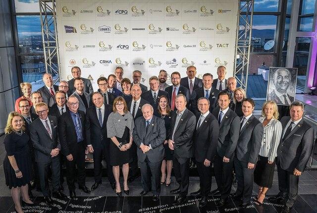 Les gagnants des Prix Créateurs d'emplois du Québec2018 étaient fiers de leur réussite mercredi soir au Centre des congrès.