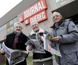 Marcel Perron, Douglas Beauchamp et Jocelyn Boily sont des habitués des colonnes du courrier des lecteurs du Journal de Québec.