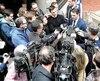François Bonnardel réagissant aux résultats de l'enquête devant les journalistes, hier.