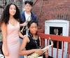 Ryanna Lydie Sida (au centre) joue du saxophone alto et Rafael Salazar Desjardins excelle à la trompette. Sa sœur Malena Salazar Desjardins (à gauche) raconte avoir elle aussi subi des injustices lorsqu'elle fréquentait le programme de musique de l'école Saint-Luc.