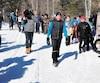 Laval Fortin a parcouru 90 km de ski de fond dimanche.