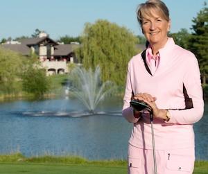 Debbie Savoy Morel est professionnelle au club de golf Le Mirage à Terrebonne.