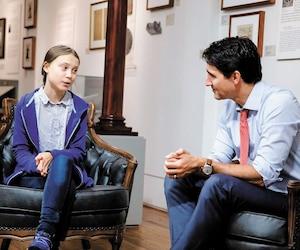 Justin Trudeau et Greta Thunberg