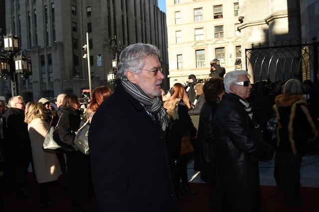 Daniel Pilon lors de l'entrée des invités aux funérailles de René Angelil, célébrées ce vendredi après-midi 22 janvier 2016, à la Basilique Notre-Dame, à Montréal.