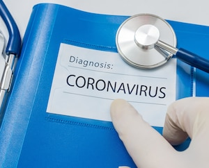 Blue folder With ZIKA Virus Diagnosis.