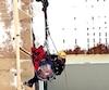 Le travailleur est resté coincé sur l'une des structures en hauteur pendant plus d'une heure.