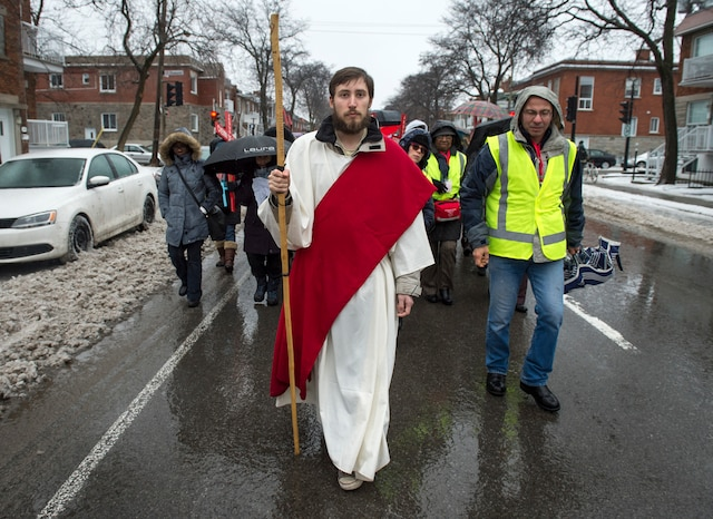 La marche du Vendredi saint