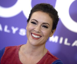 Alyssa Milano attends the launch of 'Touch by Alyssa Milano'