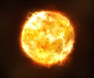 Le Soleil, boule de fusion nucléaire.